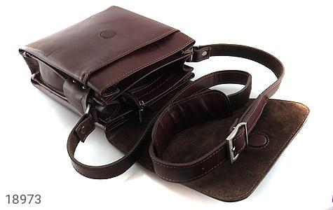 کیف چرم طبیعی دوشی مدل قفل مگنتی - عکس 5