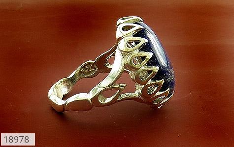 انگشتر لاجورد درشت طرح سلطان مردانه - عکس 3