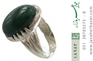 انگشتر مالاکیت درشت و خوش رنگ طرح شهرام مردانه - کد 18983