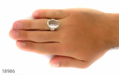 انگشتر دُر نجف دامله درشت و ارزشمند مردانه - عکس 7