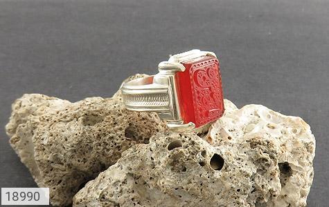 انگشتر عقیق یمن حکاکی یا حسین ع استاد حیدر رکاب دست ساز - عکس 5
