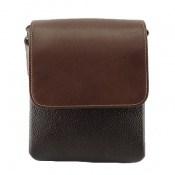 کیف چرم طبیعی مدل دوشی دو رنگ