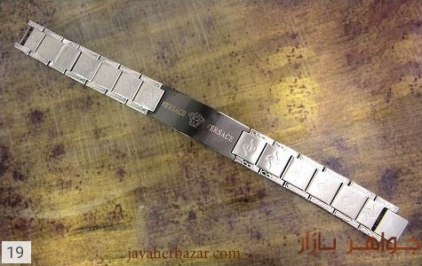 دستبند استیل مارک ورساچه مردانه - تصویر 4