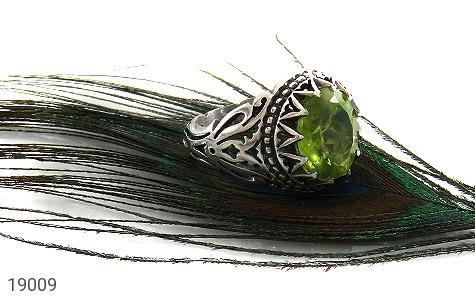 انگشتر زبرجد خوش رنگ طرح عرفان مردانه - عکس 5