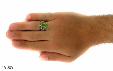 انگشتر زبرجد خوش رنگ طرح عرفان مردانه - عکس 7