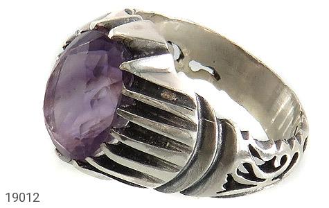 انگشتر آمتیست خوش رنگ طرح شهرام مردانه - عکس 1