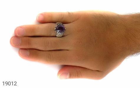 انگشتر آمتیست خوش رنگ طرح شهرام مردانه - عکس 7