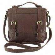 کیف چرم طبیعی قهوه ای طرح دوشی رسمی