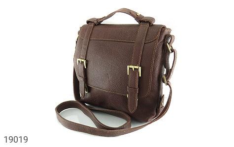 کیف چرم طبیعی قهوه ای طرح دوشی رسمی - تصویر 2