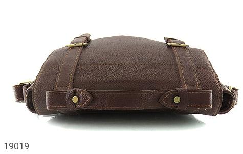 کیف چرم طبیعی قهوه ای طرح دوشی رسمی - عکس 3