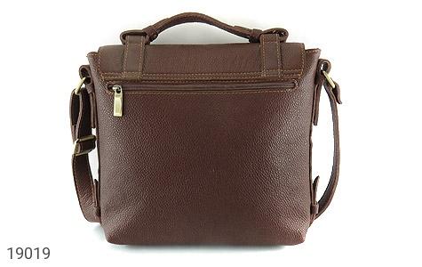 کیف چرم طبیعی قهوه ای طرح دوشی رسمی - تصویر 4