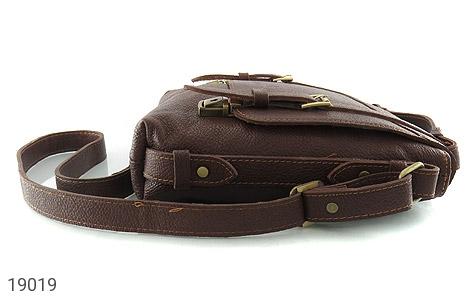 کیف چرم طبیعی قهوه ای طرح دوشی رسمی - عکس 5