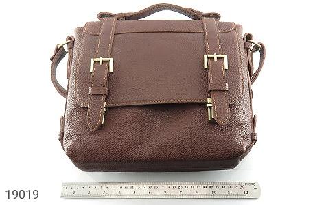 کیف چرم طبیعی قهوه ای طرح دوشی رسمی - تصویر 6