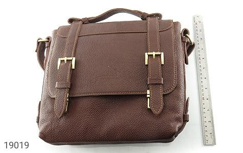 کیف چرم طبیعی قهوه ای طرح دوشی رسمی - عکس 7