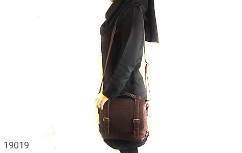 کیف چرم طبیعی قهوه ای طرح دوشی رسمی - تصویر 8