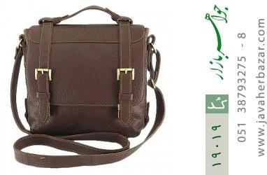 کیف چرم طبیعی قهوه ای طرح دوشی رسمی - کد 19019