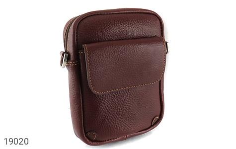 کیف چرم طبیعی قهوه ای تیره - عکس 1