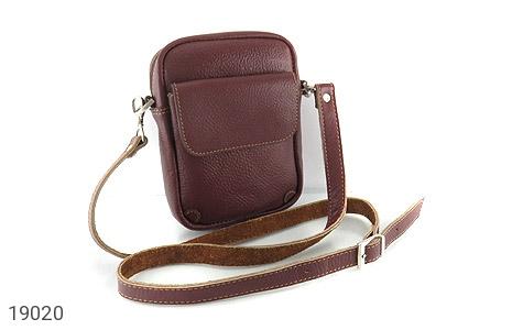 کیف چرم طبیعی قهوه ای تیره - تصویر 2