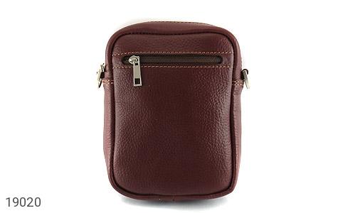 کیف چرم طبیعی قهوه ای تیره - تصویر 4
