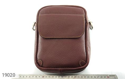 کیف چرم طبیعی قهوه ای تیره - عکس 5