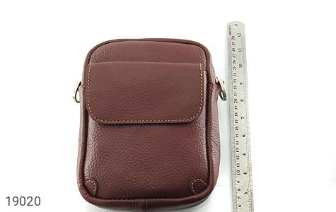 کیف چرم طبیعی قهوه ای تیره - تصویر 6