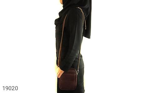 کیف چرم طبیعی قهوه ای تیره - عکس 7