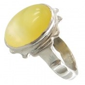 انگشتر عقیق زرد شرف الشمس طرح اهورا مردانه