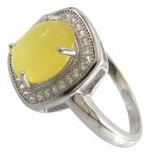 انگشتر عقیق زرد شرف الشمس طرح مهرناز زنانه