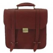 کیف چرم طبیعی بنددوشی و دستی قهوه ای