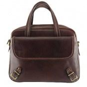 کیف چرم طبیعی بنددوشی و دستی قهوهای تیره زنانه
