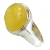 انگشتر عقیق زرد شرف الشمس صفوی مردانه