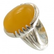 انگشتر عقیق درشت زرد شرف الشمس مردانه
