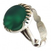انگشتر عقیق سبز طرح بهنام مردانه