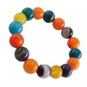 دستبند عقیق رنگارنگ و زیبا زنانه