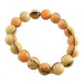 دستبند کهربا پودری خوش رنگ زنانه