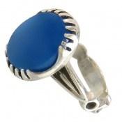 انگشتر عقیق آبی طرح یاشار مردانه