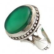 انگشتر عقیق سبز طرح صابر مردانه