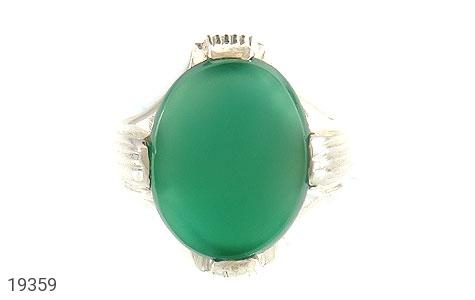 انگشتر عقیق سبز طرح چهارچنگ مردانه - تصویر 2
