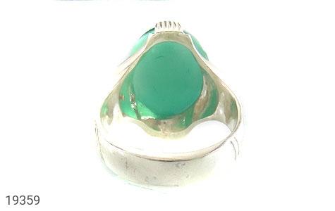 انگشتر عقیق سبز طرح چهارچنگ مردانه - تصویر 4