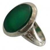 انگشتر عقیق سبز درشت طرح مهرداد مردانه