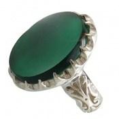 انگشتر عقیق سبز درشت مردانه