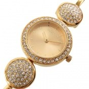 ساعت رمانسون Romanson طلائی پرنگین مجلسی زنانه