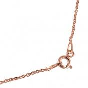 زنجیر نقره ایتالیایی طرح حلقه ای