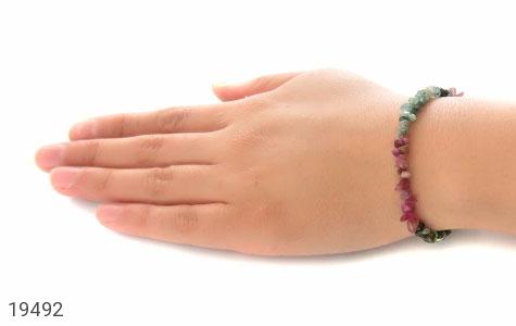 دستبند یاقوت و زبرجد و زمرد جذاب زنانه - عکس 5