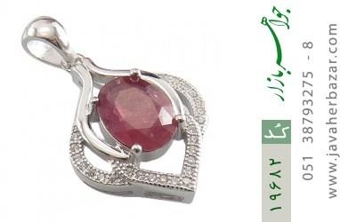 مدال یاقوت سرخ طرح ثنا زنانه - کد 19682