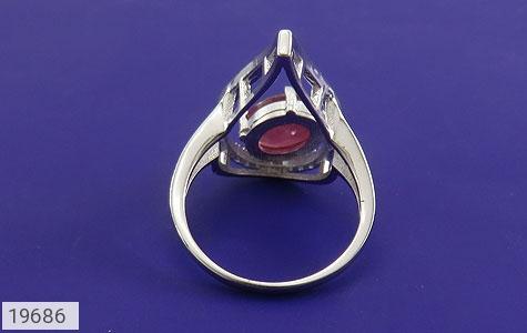 انگشتر یاقوت سرخ طرح شعله زنانه - تصویر 4