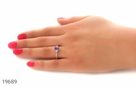 انگشتر آمتیست طرح یاس زنانه - عکس 7