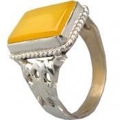 انگشتر عقیق زرد شرف الشمس درشت
