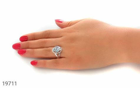 انگشتر توپاز آبی طرح هورتاش زنانه - عکس 7
