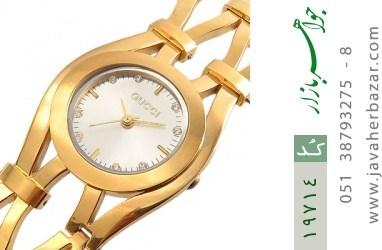 ساعت گوچی Gucci طلائی مجلسی زنانه - کد 19714